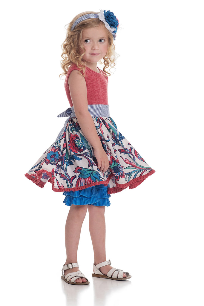 CASSIE TUNIC - Red Floral - 18-24M
