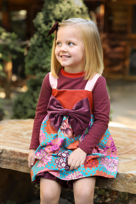 Madelyn Jumper - Fall Floral