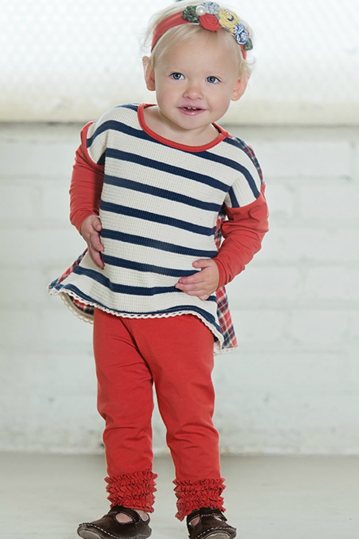 Gracie Legging -Red Fall 15' SAMPLE (size 12-18m)