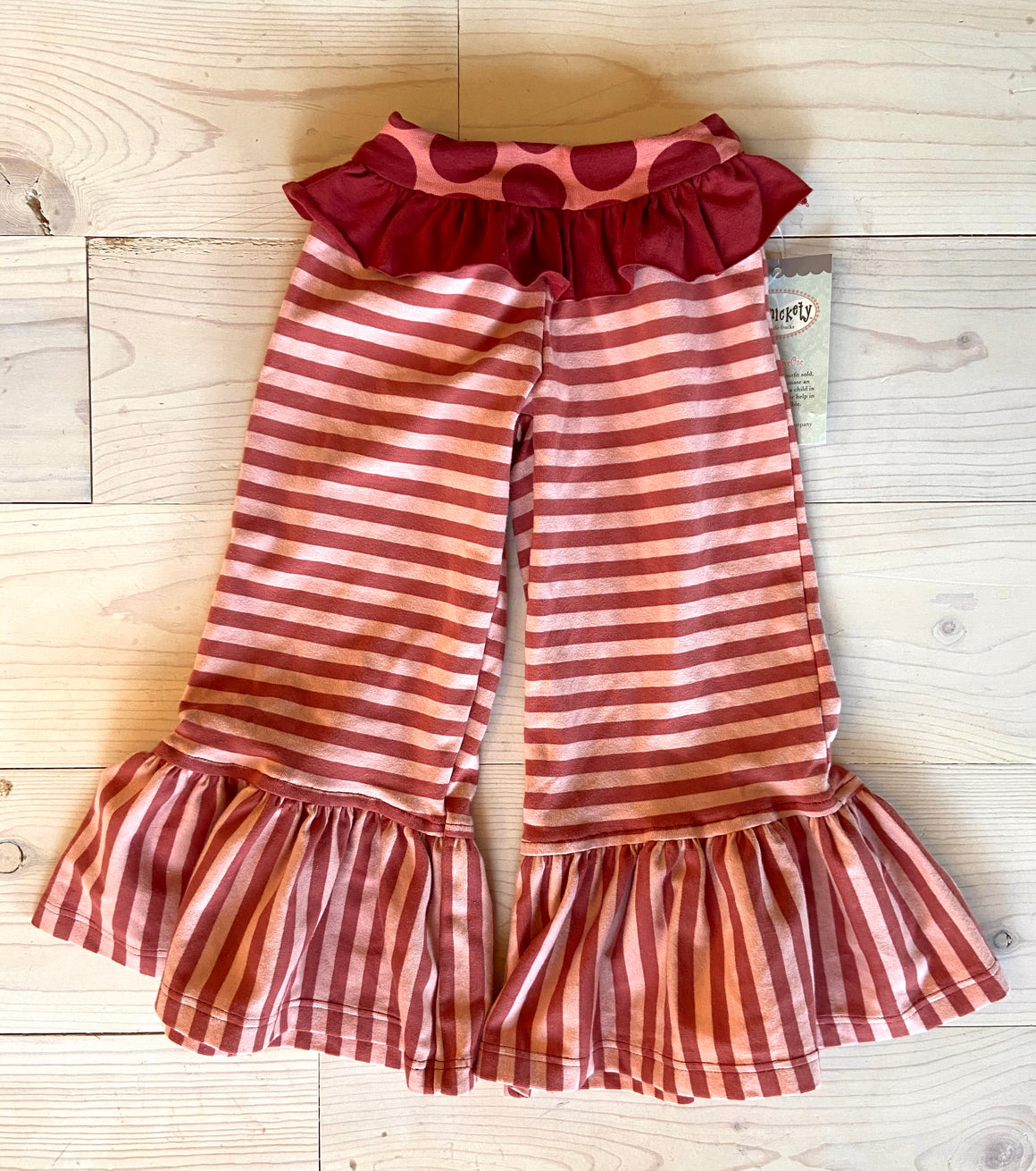 Belle Pant Red/Pink Stripe