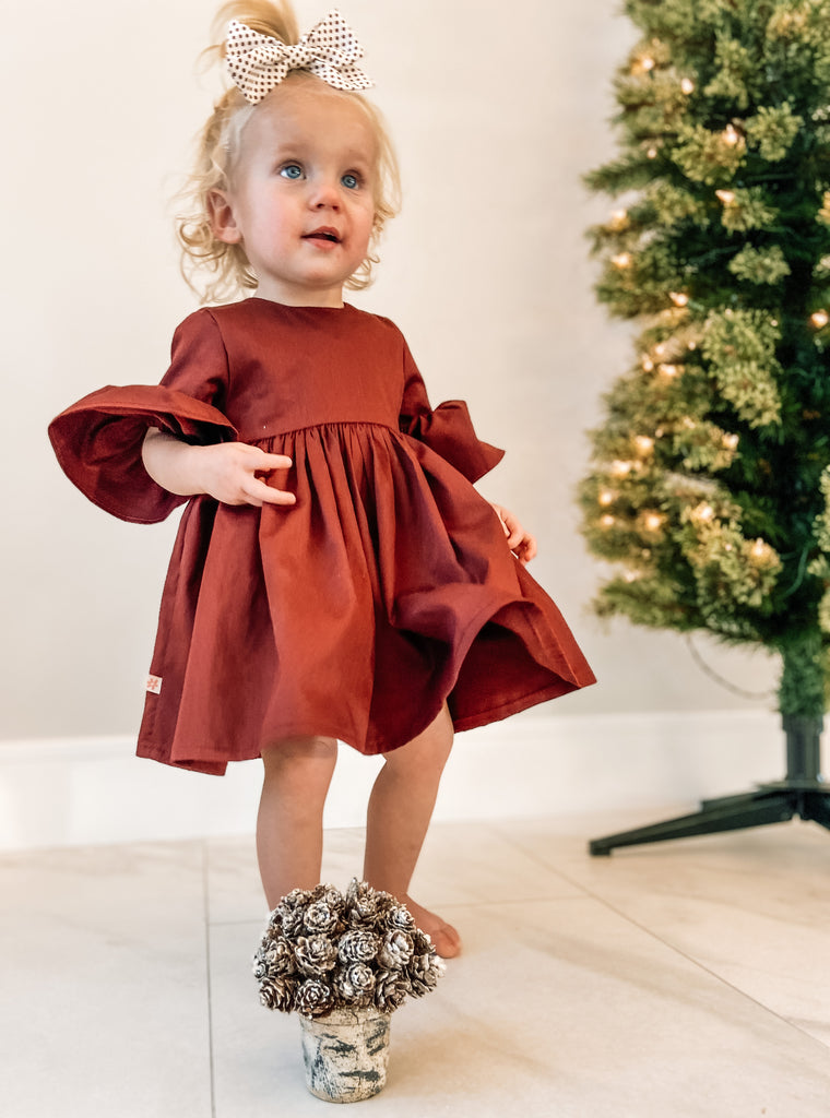 Oaklyn Dress Chestnut