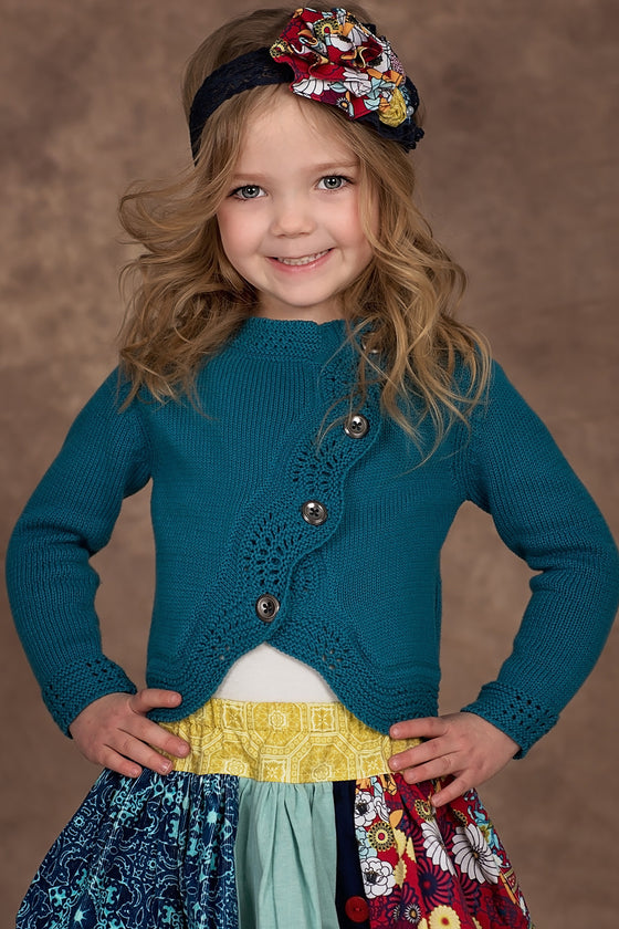 Amelia Sweater - Blue - Size 10 sample