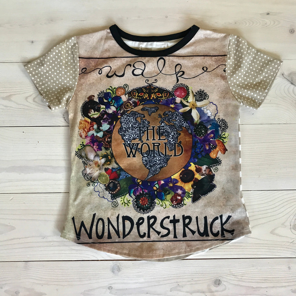 RYANN OVERSIZED TEE - Wonderstruck Art- Sample- Size 3