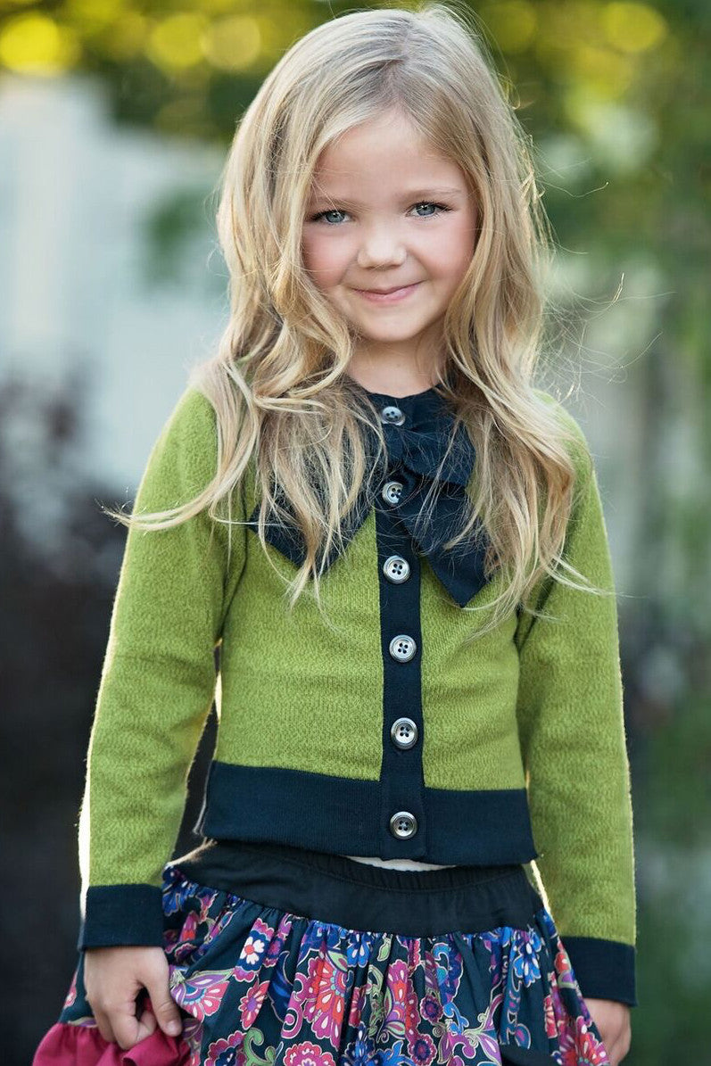 Bow Sweater - Green - Size 3