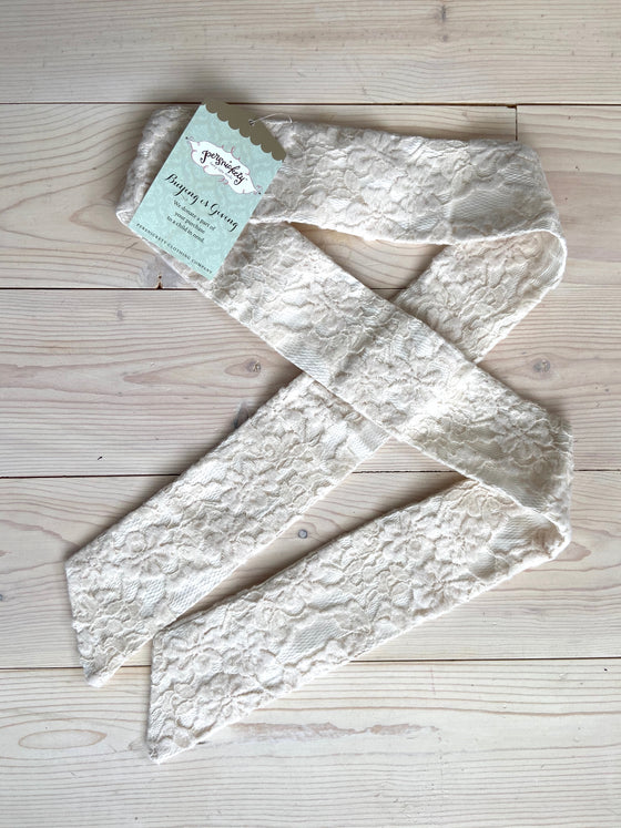 Cream Lace Sash