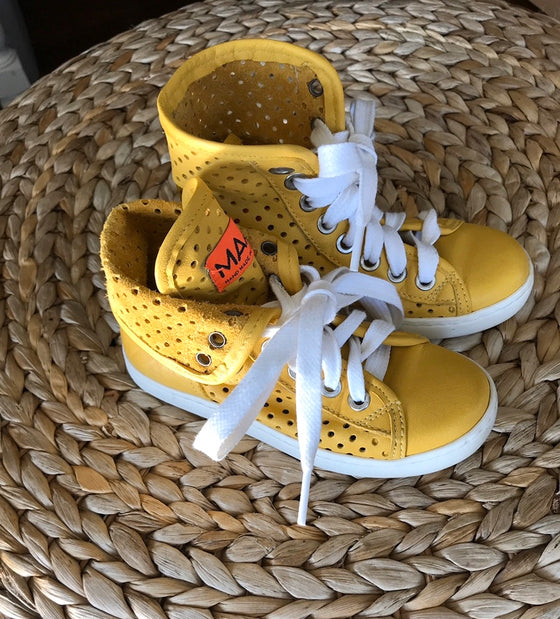 MAA- Leather High Tops - Yellow - size 8/23