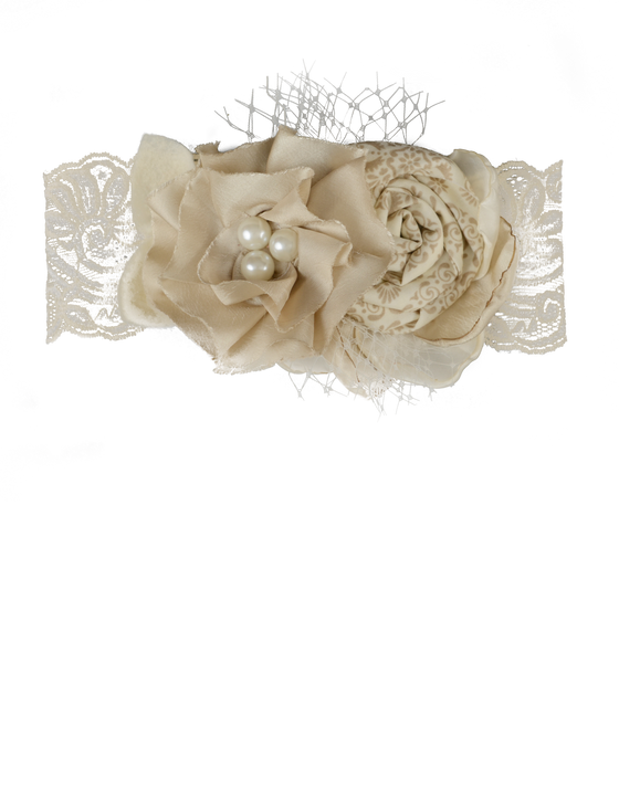 Carmella Headband-Cream