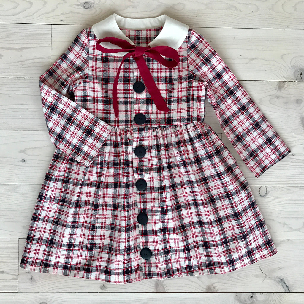 Frankie Dress - Soft Red Plaid
