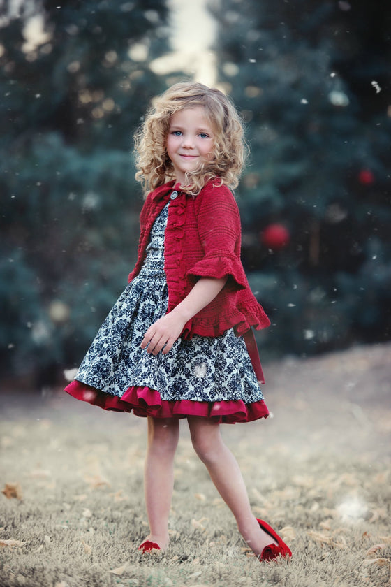 Corset Dress - Black- Fall 16 sample - size 3-6M