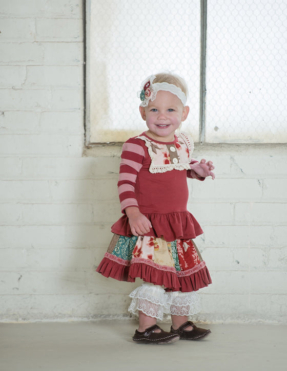 Layette Lou Lou Peplum Top-PNK SAMPLE