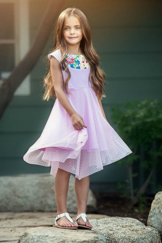 AUDREY ANN DRESS - Pink  PRE-SALE (WILL SHIP ON MARCH 20TH)