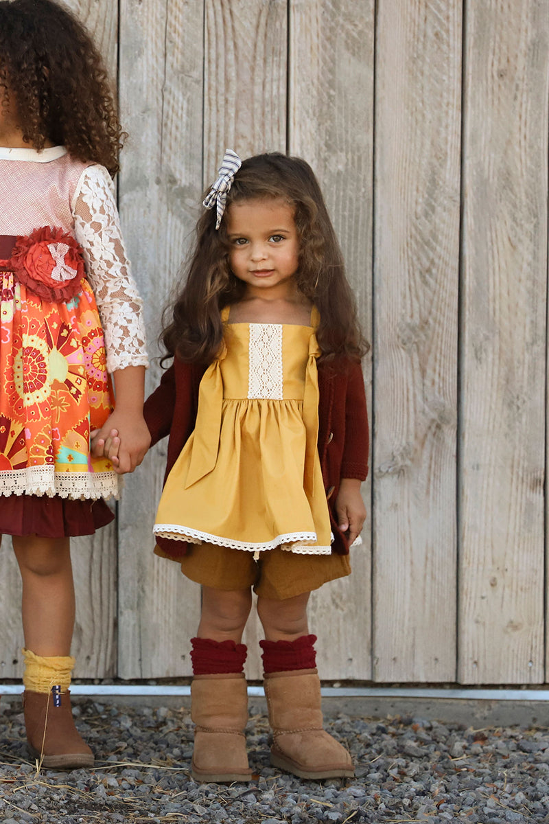 Autumn Tunic- Gold SZ 12-18 mos. SAMPLE