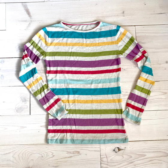 ASPYN TEE - Rainbow Stripe -Spring 16' Sample - size 12
