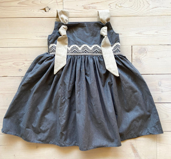 Autumn Dress Slate-no ruffle