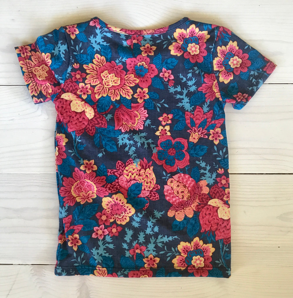 ASPYN TEE -Blue Floral -  Spring 16' Sample