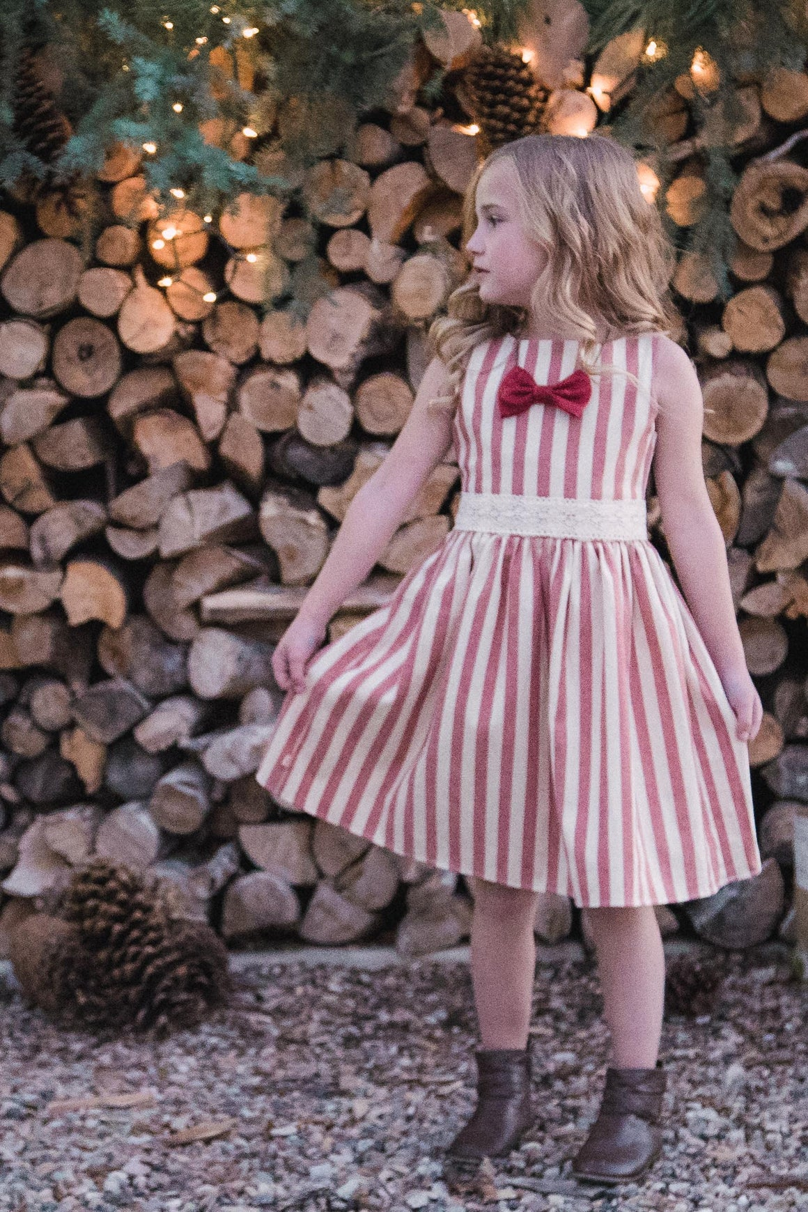 Kate Dress - Candy Cane - size 12