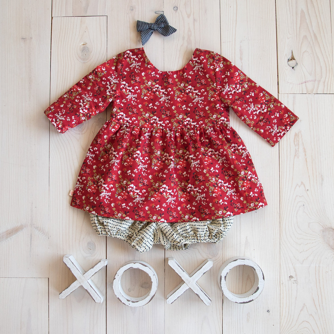 Gemma Dress - Red Floral