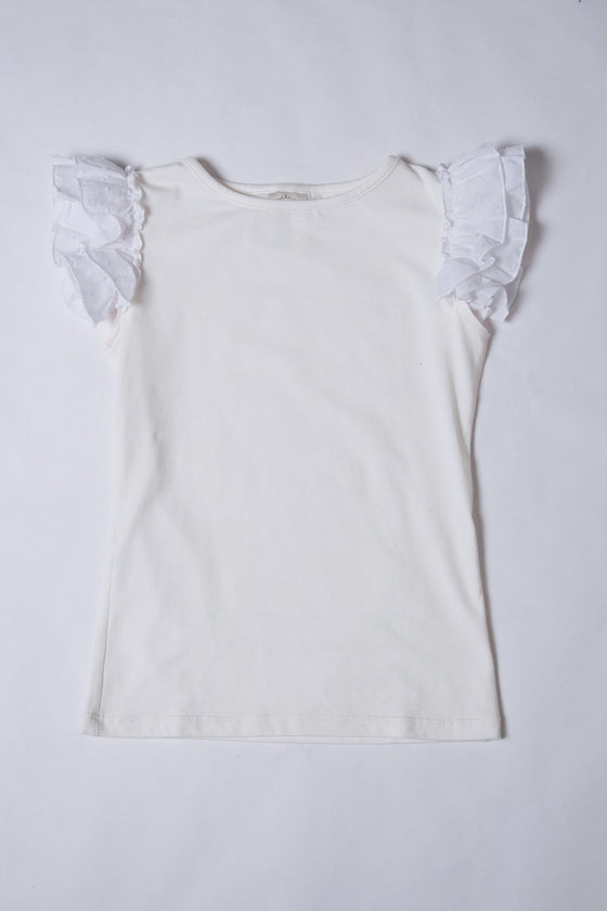 Everly Top - Ivory slight flaw