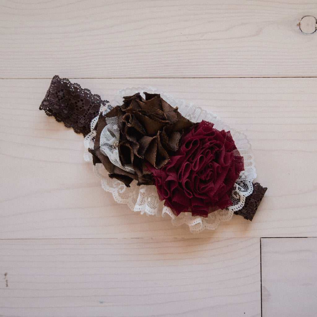 Rose Headband - Chocolate