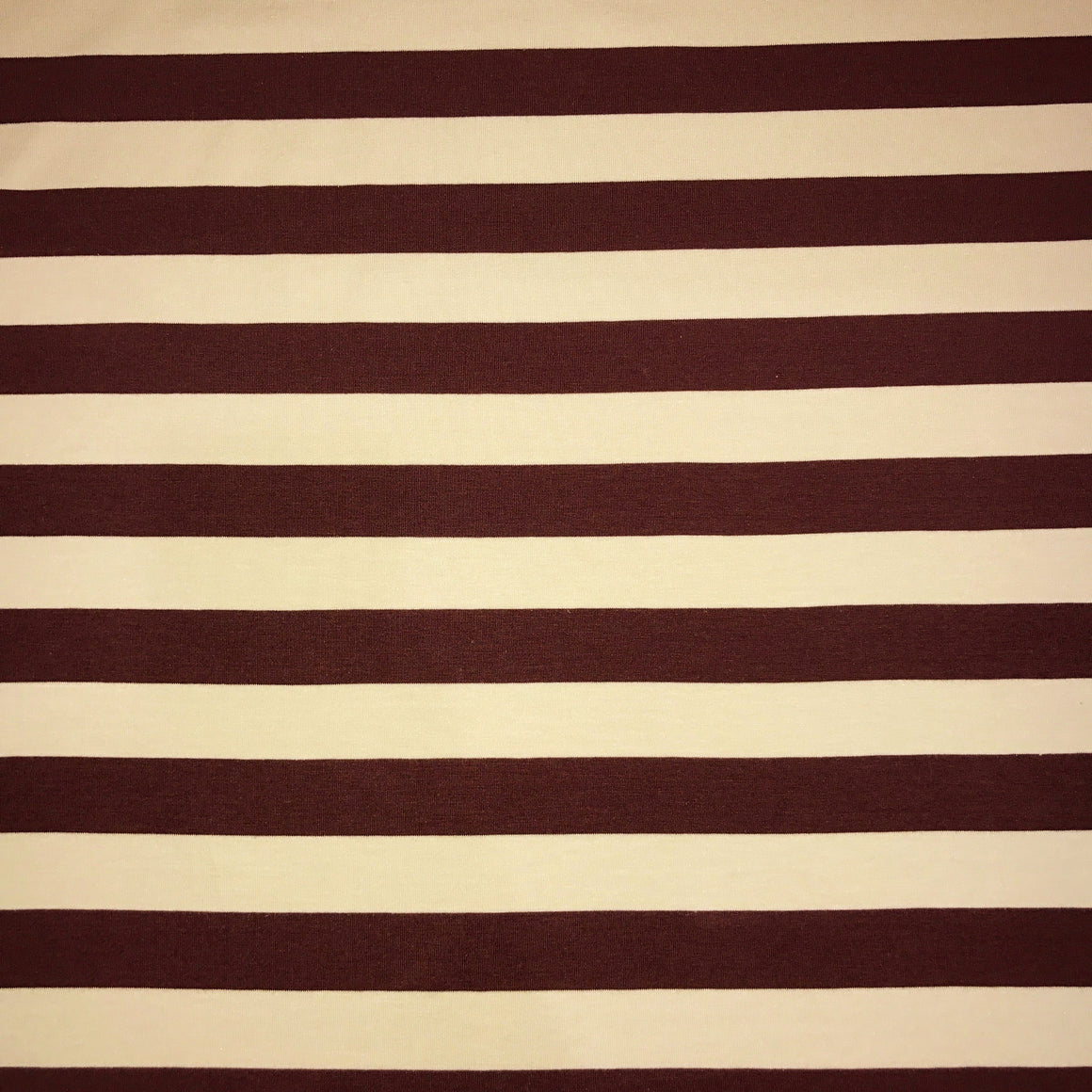 Maroon/Cream Wide Stripe Knit