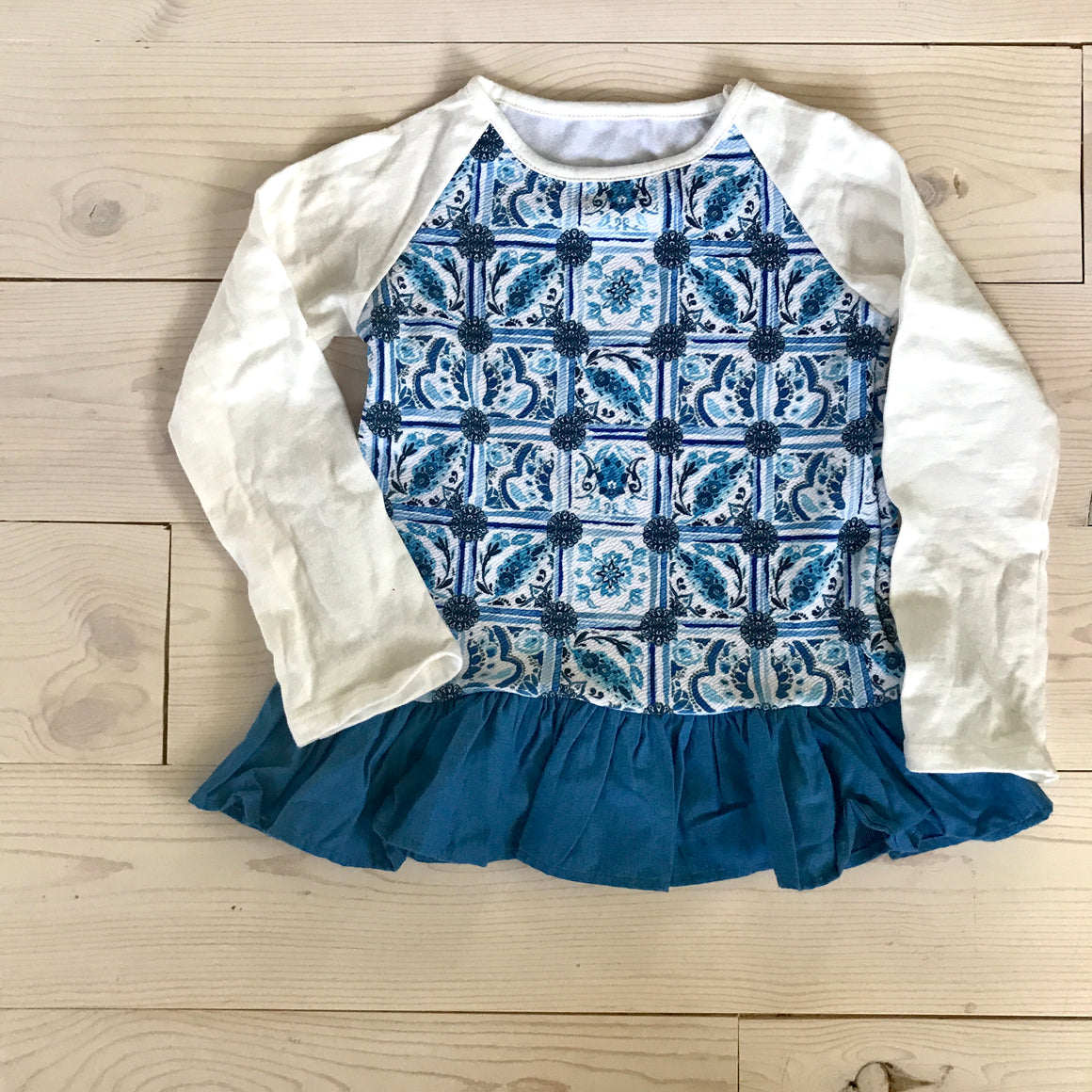Playdate Top - Blue Spring 16 Sample - Size 3