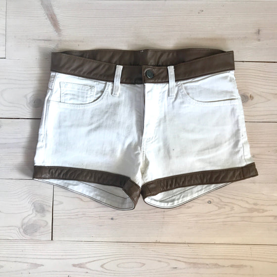 Harley Short - White Denim - Spring 16 Sample