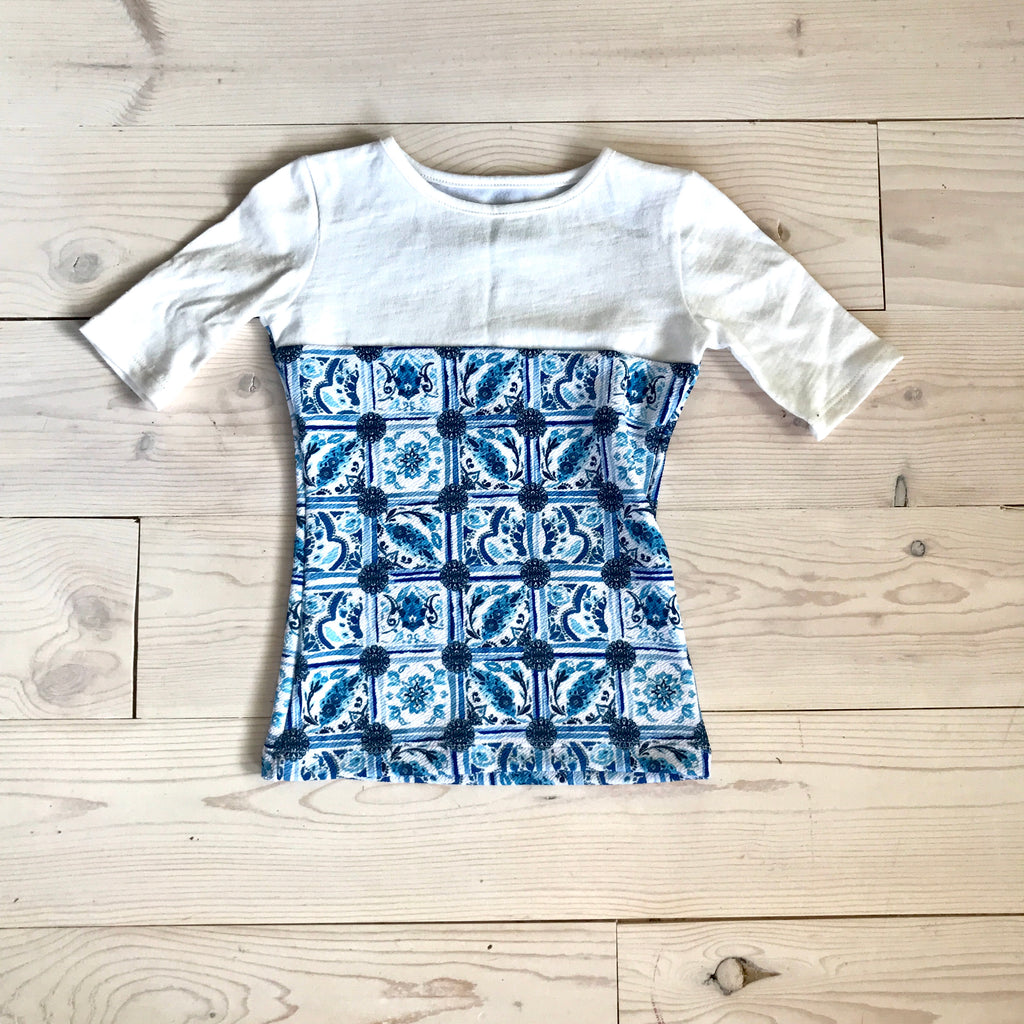 Cecile Top - Blue - Spring 16 Sample - size 3