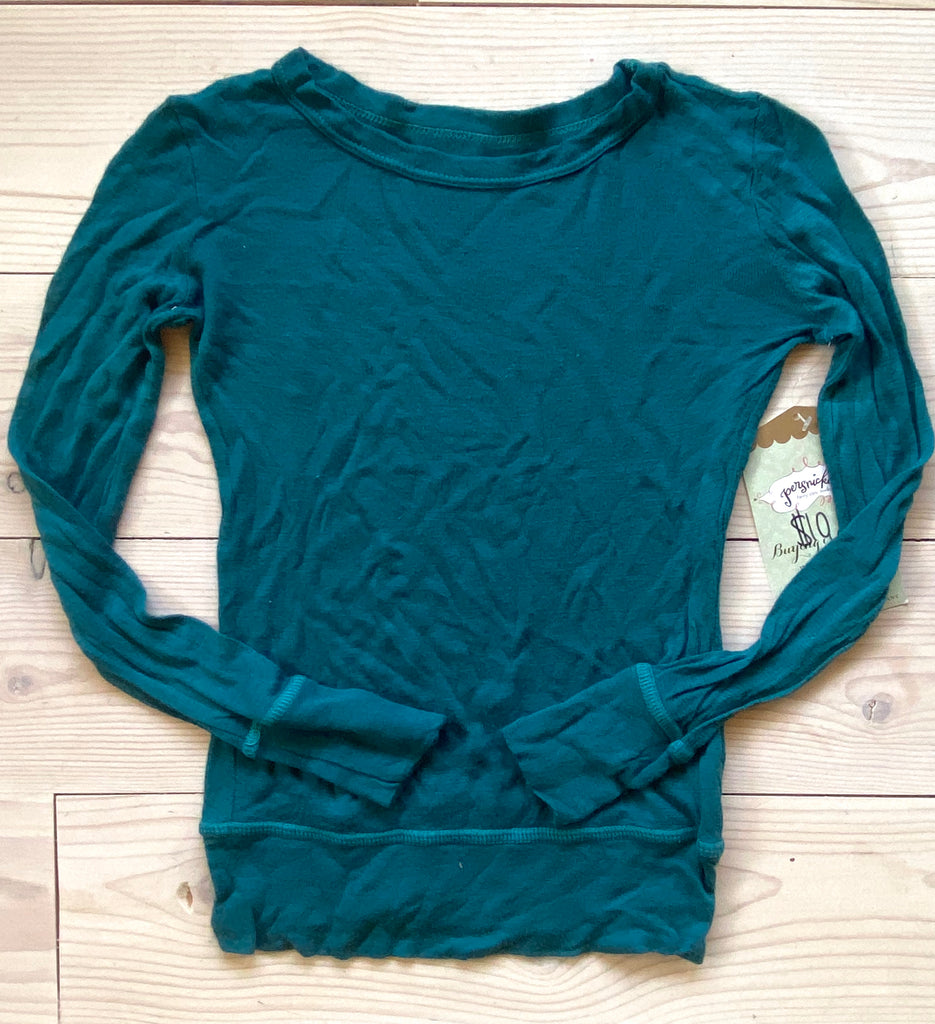 Tissue paper Tee - Deep teal Sample (size 3)