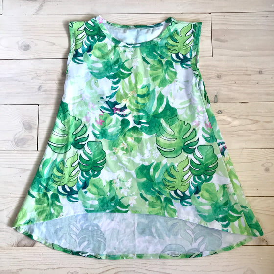 Juliet Top -Green Floral- Spring 16' Sample - Size 12
