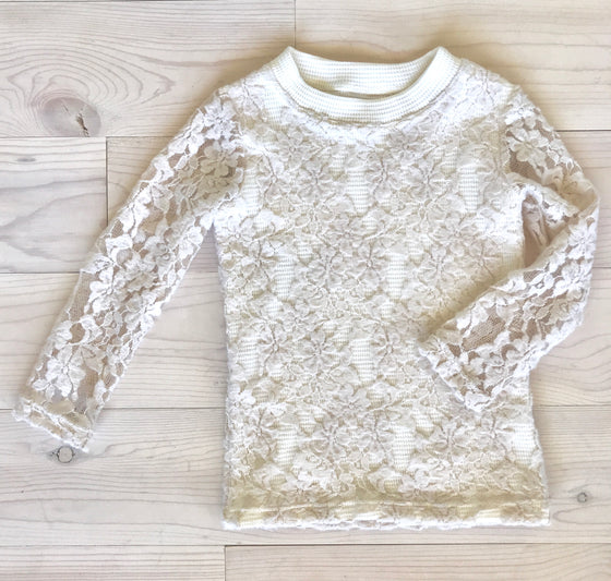 Naomi Top - Cream Lace