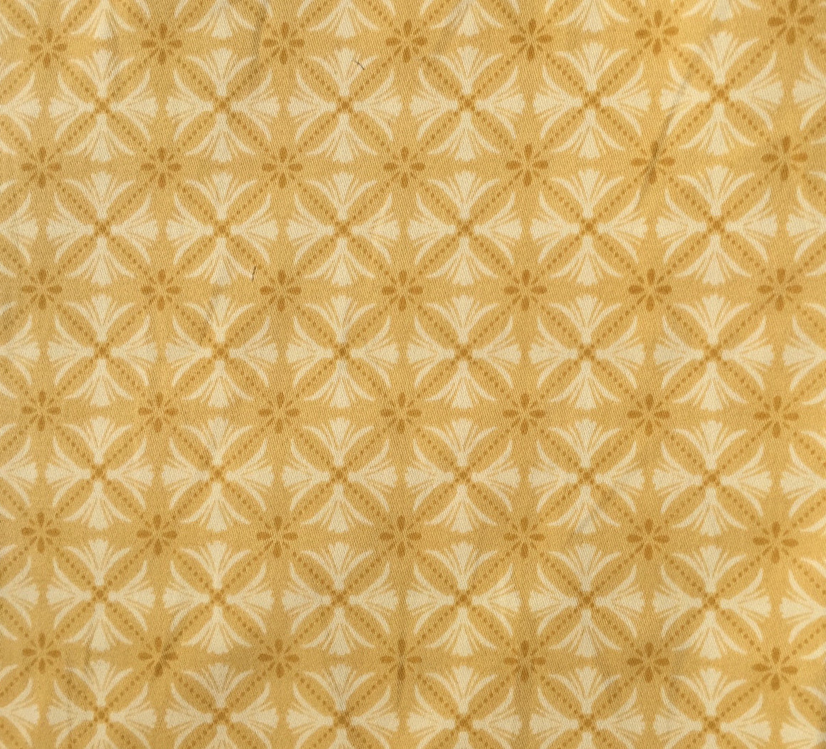 Geometric Medallion Gold - Twill - 2 way stretch -