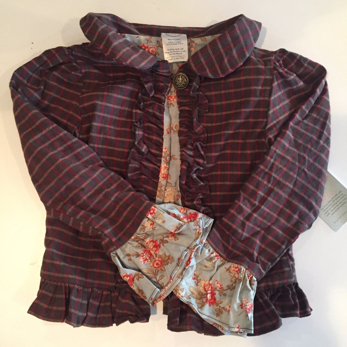 Stella Jacket -Brown Plaid