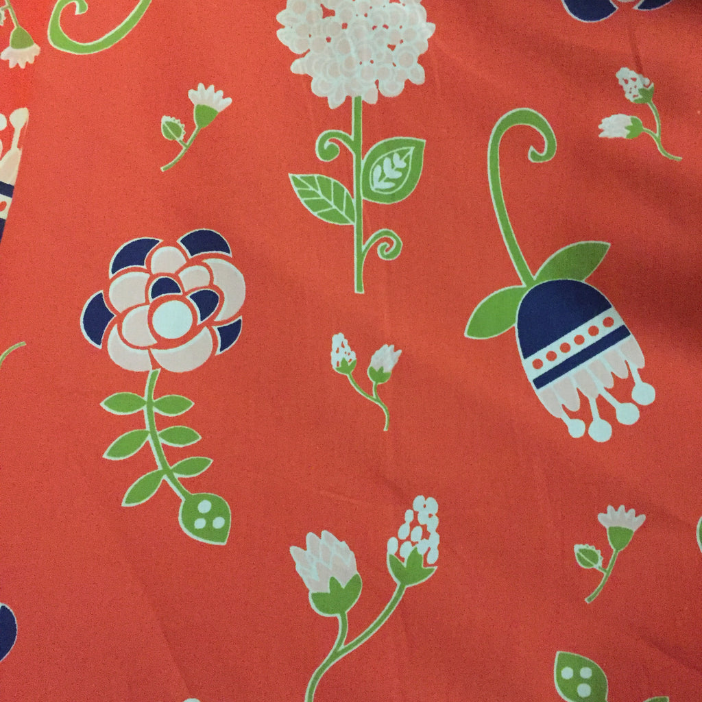 Red Whimsy Floral - Poplin