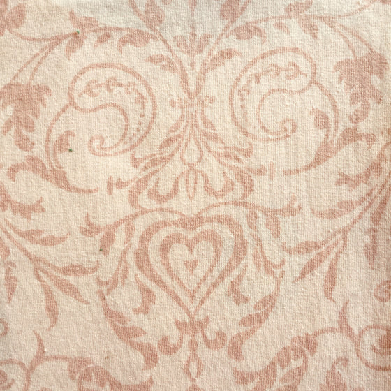 Pink/Peach Tonal Damask Knit -