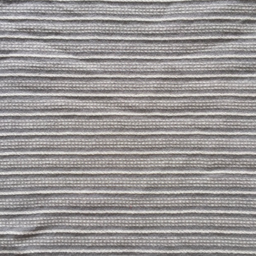 Textured Gray/Cream Stripe Knit