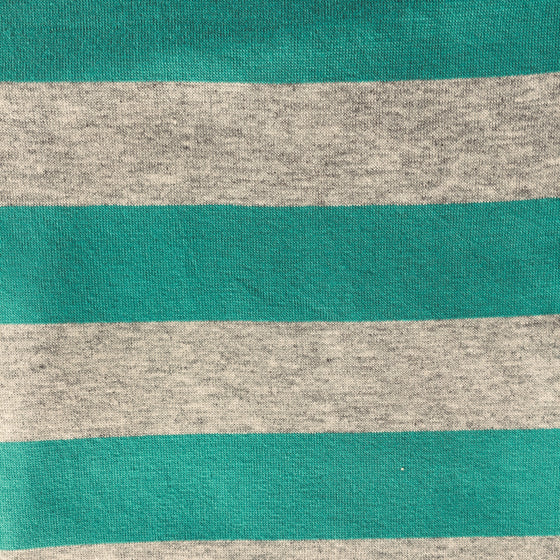 Teal/Grey Stripe Knit