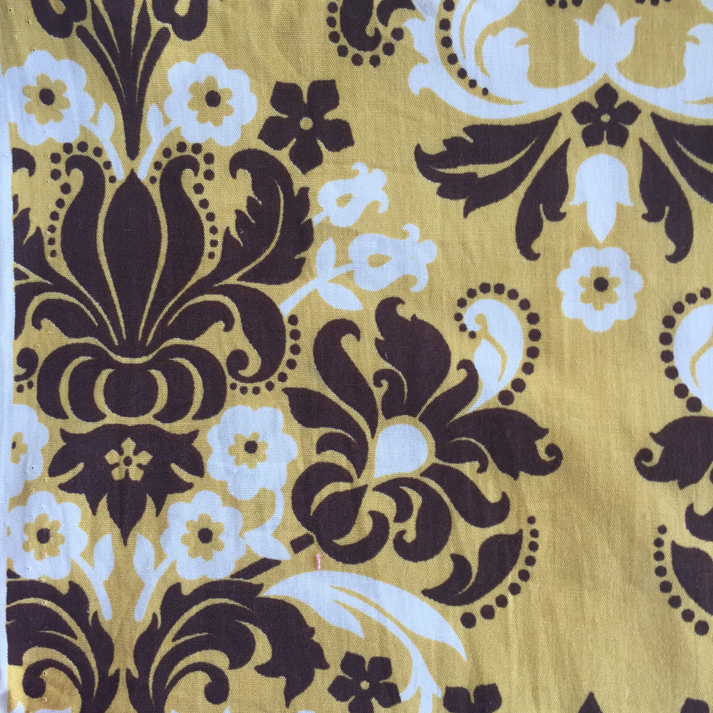 Gold/Brown Floral - Poplin