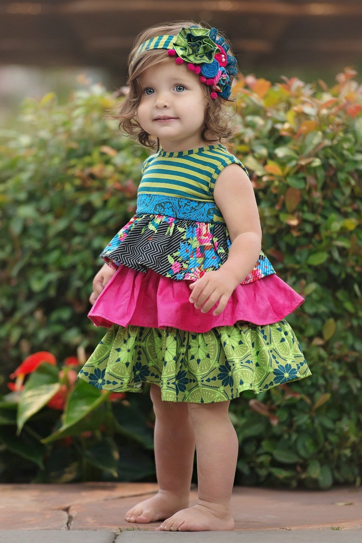 Paisley Dress - Spring 15 Sample - 6-12M