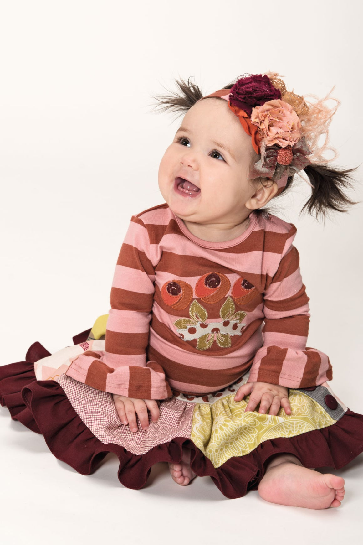 Applique Ruffle Tee - Fall 14 Sample - size 6-12m