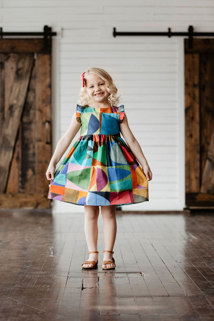 Maddie Dress - Modern color palette