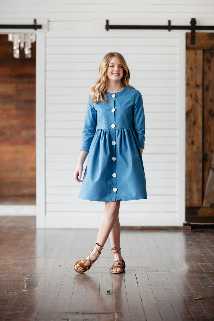 Frankie Dress - Bright Blue
