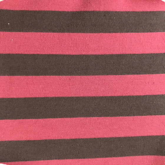 Brown/Raspberry Stripe Knit -