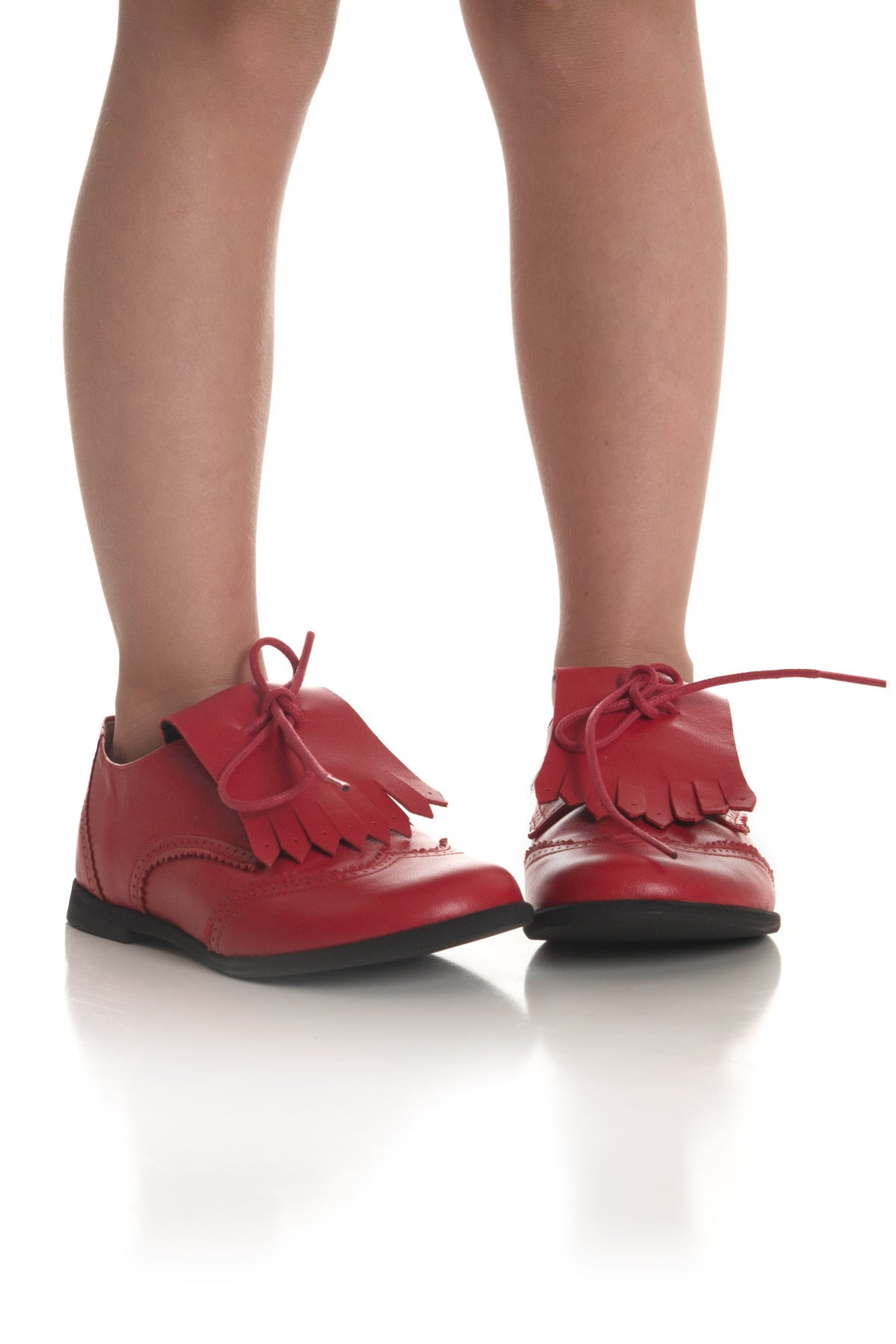 Berkely Shoe- Fringe Red