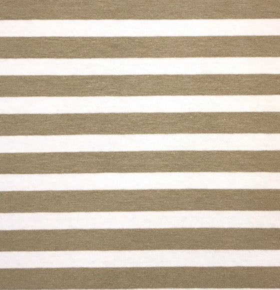 Tan White Stripe Knit -