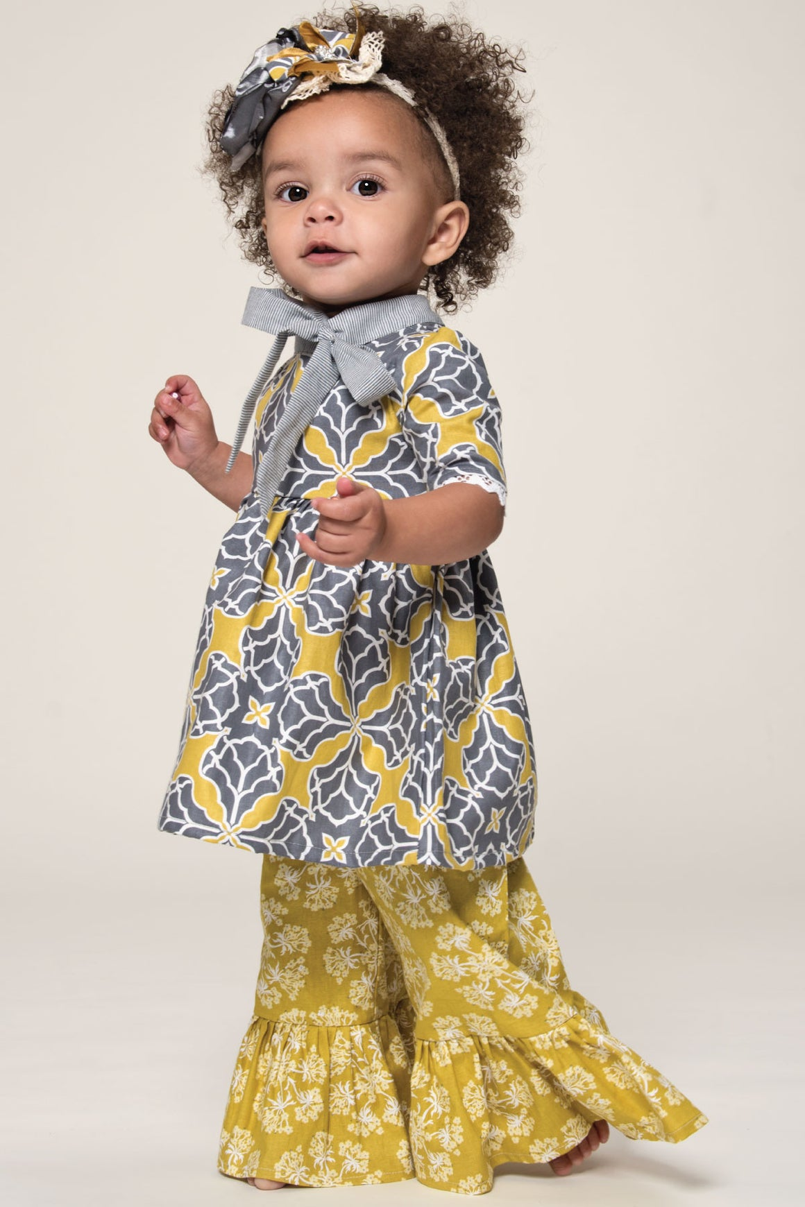 Layette gaucho pant yellow