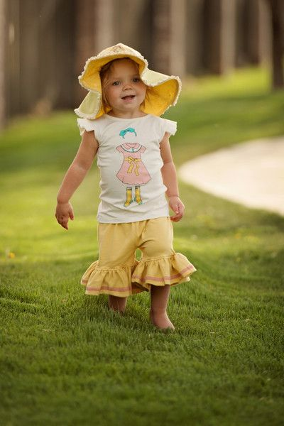 Floppy Brim Sun Hat - Yellow