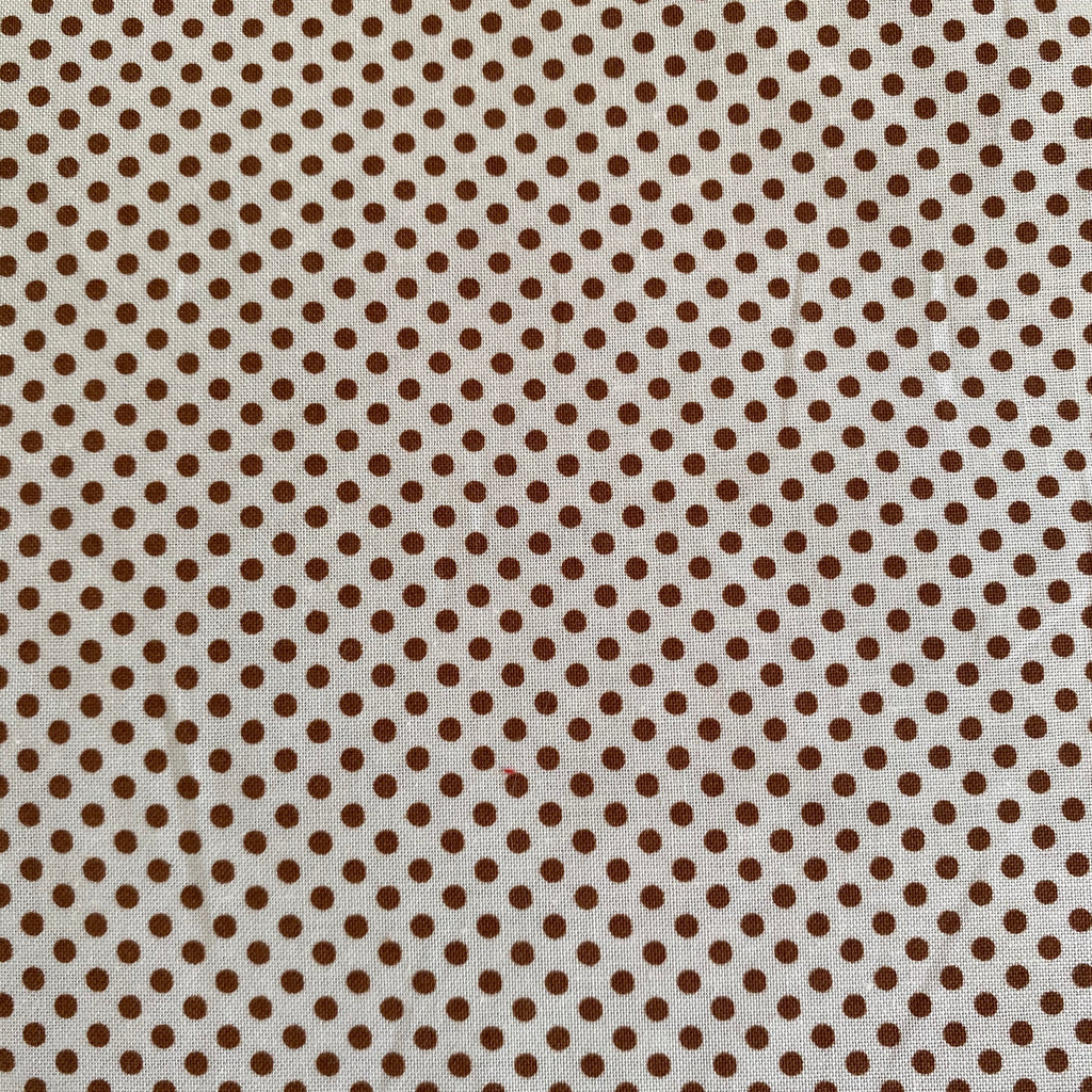 Verna Mosquera - Brown/Cream Tiny Dots