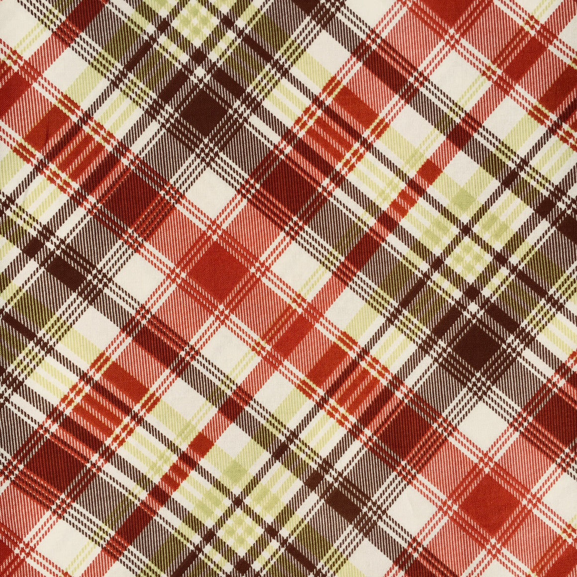 Persnickety  Tartan Plaid - Poplin -  Brown