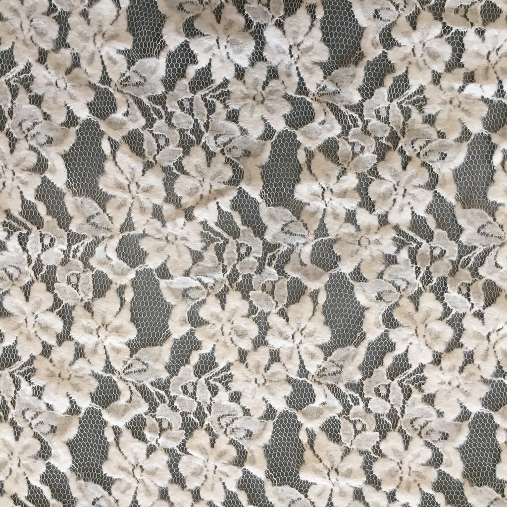 "Cream Flower Lace 60"" wide"