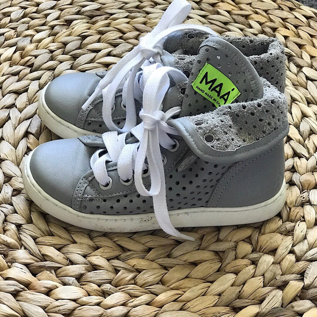 MAA - Leather High Tops - Gray - size 10 #16